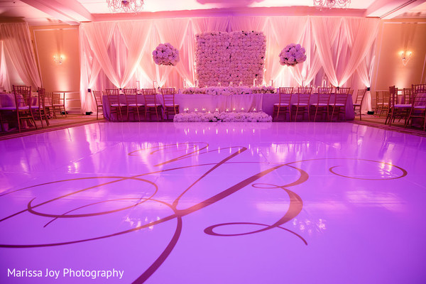Venue decoration for the Indian wedding reception