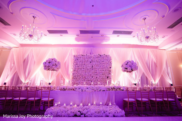 Amazing capture of the floral and draping decoration