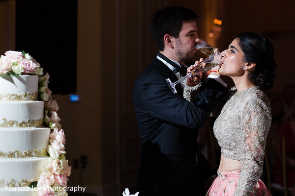Delightful toast moment from the Indian newlyweds