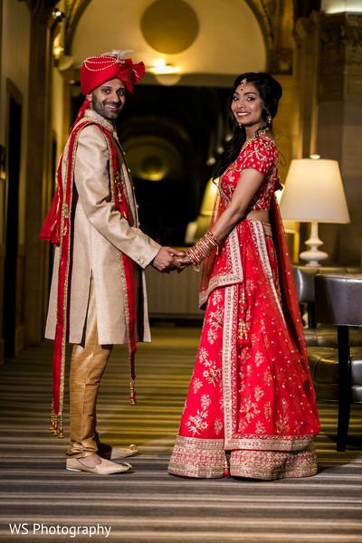 Ravishing indian bride and groom.