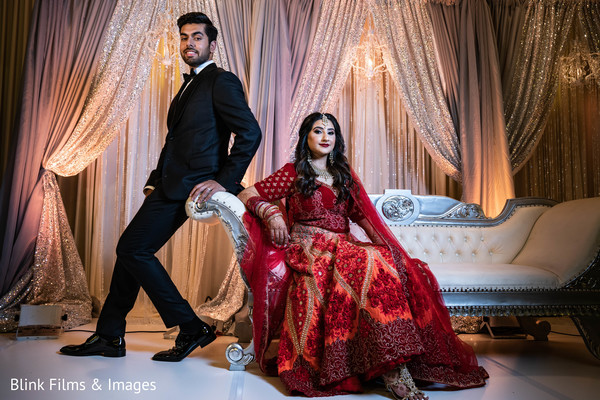 Dreamy Indian couples portrait.