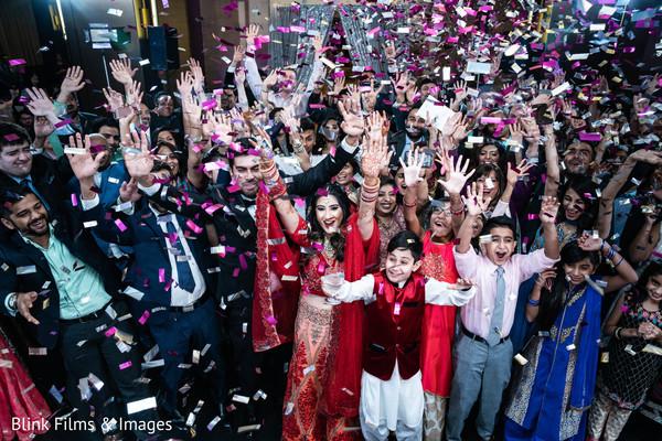 Magnificent Indian wedding reception capture.