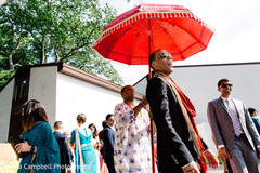 Raja making his entrance to the ceremony venue