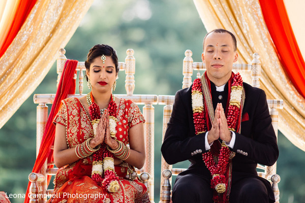 Capture of a spiritual moment during the Indian wedding ceremony