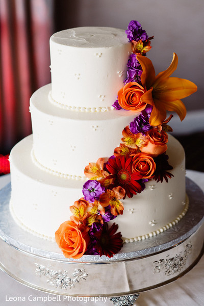 indian wedding,cake,reception,floral