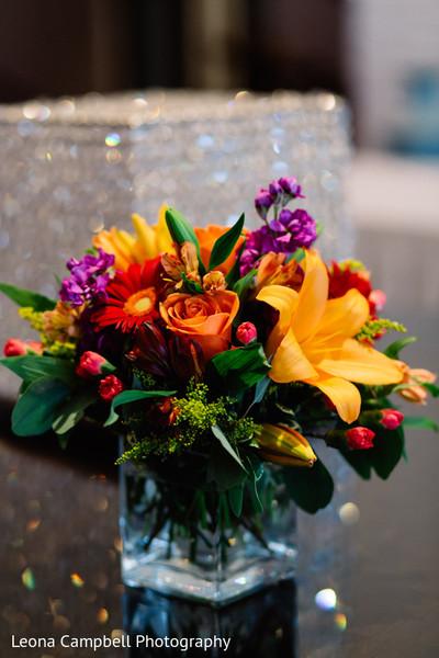 Detailed capture of a floral arrangement design