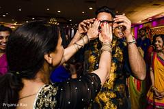 Indian guests celebrating at sangeet.