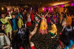 Indian bride and grooms sangeet dance.