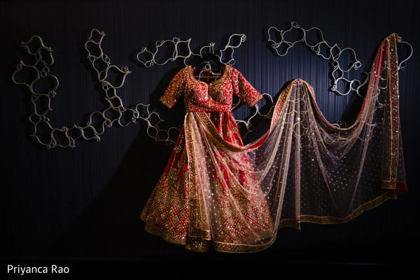 Indian bridal attire.