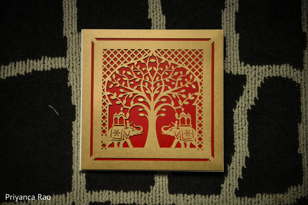 Marvelous Indian wedding invitation print.