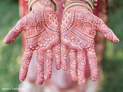 Intricate indian bride mehndi art
