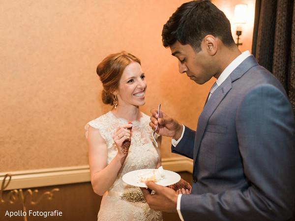 cake cutting,indian wedding cake,indian wedding reception