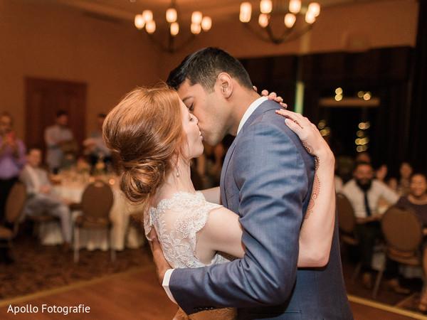 white wedding dress,first dance,suit,indian wedding