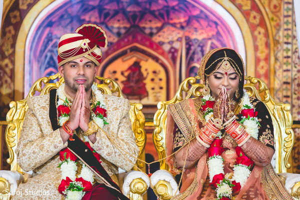 indian wedding,maharani,indian couple,color