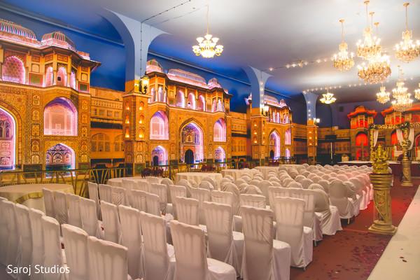 indian wedding,venue,reception,design