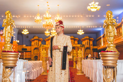 Capture of the raja at the Indian wedding reception