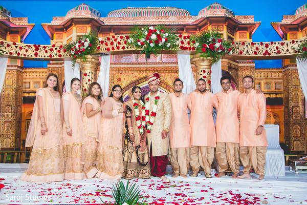 indian wedding,groomsmen,bridesmaids,raja
