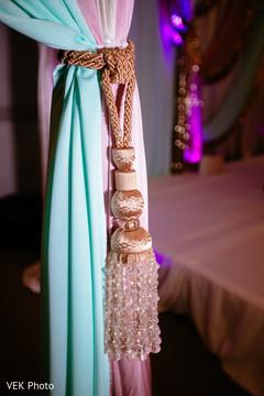 Marvelous Indian pre-wedding drape tieback.