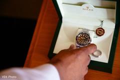 Elegant Indian grooms watch.