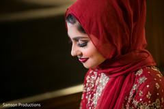 Makeup detail of the gorgeous maharani