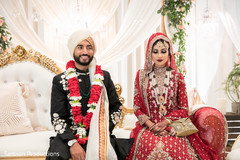 Lovely indian couple at their wedding