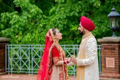 Indian groom admiring maharani