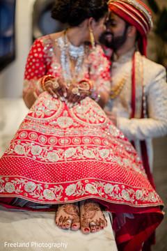 Gorgeous bridal lengha details