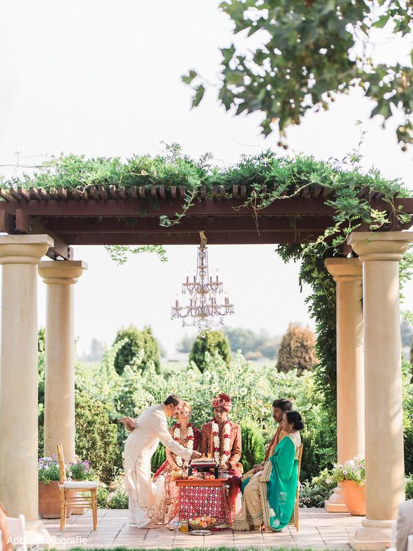 outdoor wedding,indian wedding,mandap