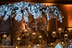Stunning Indian wedding table flower decorations.