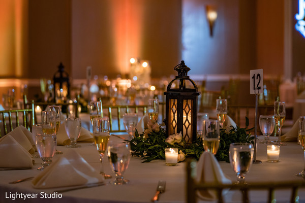 indian wedding reception,table decor,candles decor