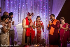 Spiritual moment during the Indian wedding ceremony