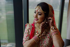 Beautiful maharani getting ready with the bridal jewelry