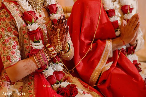 indian wedding,maharani,sari,garland