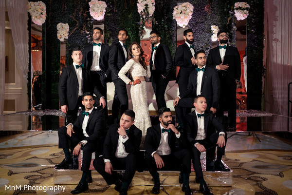 indian bride,indian groomsmen,indian wedding reception fashion