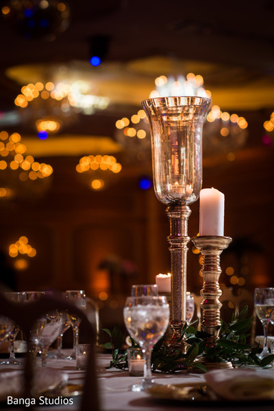 Delightful Indian wedding reception decor