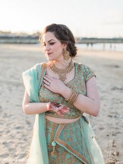 Ravishing Indian bride with lehenga.