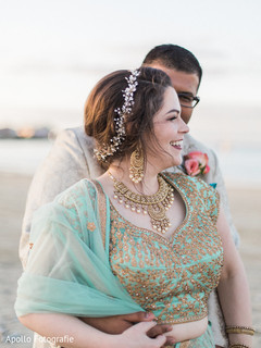 Most romantic Indian bride and grooms beach side photo shoot.