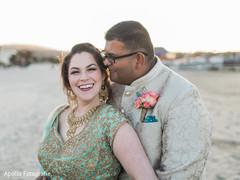 Beach themed bride and groom capture.