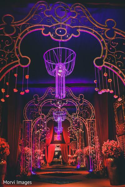 Magnificent Indian wedding entrance decor.