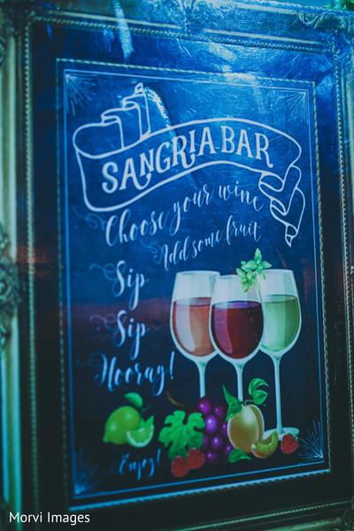 Wonderful Indian wedding drinks sign.