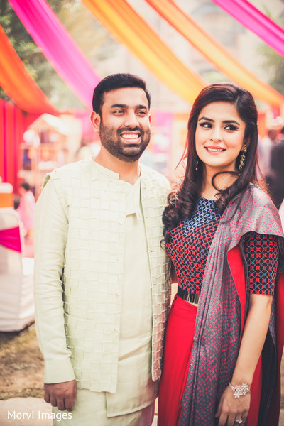 Lovely Indian couple at sangeet part