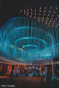 Magnificent Indian wedding lights decor.