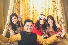 Indian bridal mehndi party.