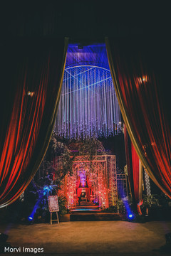 Enchanting indian wedding reception decor.