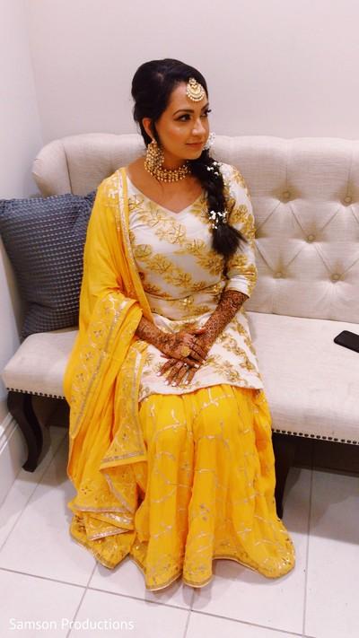 Lovely maharani in yellow sari