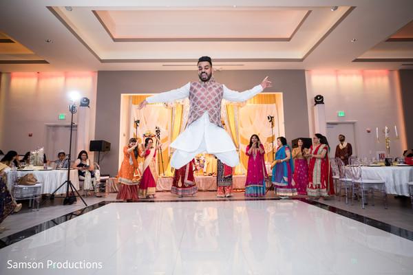 Indian wedding dance performance