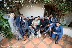 Indian couple with the groomsmen