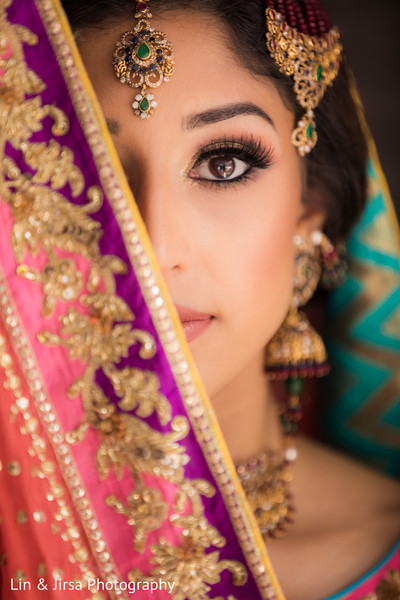 Incredible portrait of the Maharani before the ceremony
