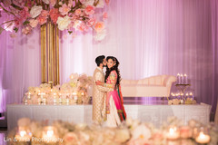 Tender moment between the maharani and raja at the reception