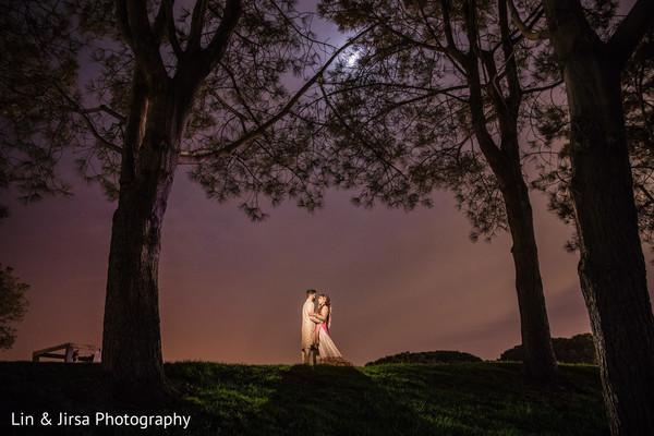 indian wedding,moonlight,newlyweds,capture
